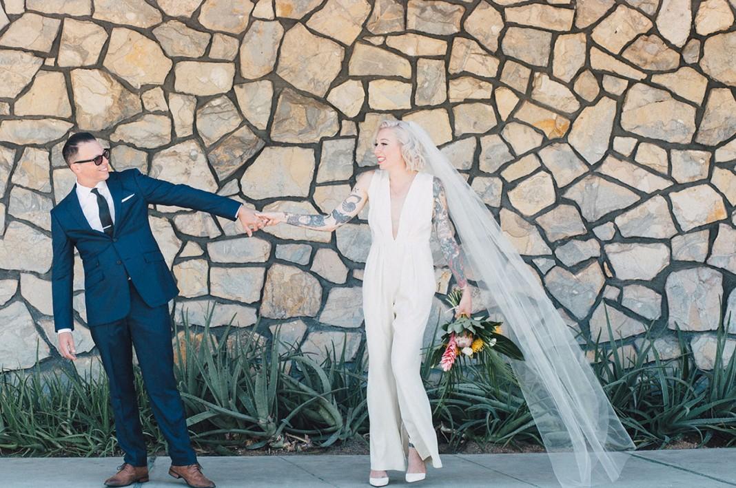 A Minimal Palm Springs Wedding with a Retro Twist