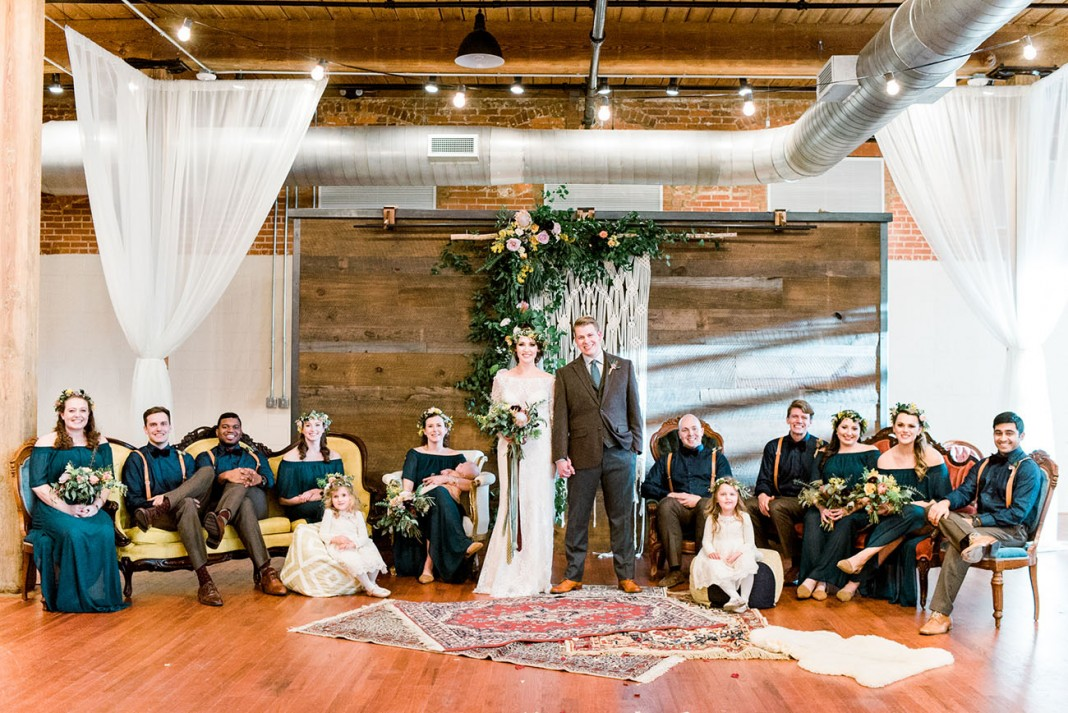 A Vintage Indoor Wedding With Meaningful Details