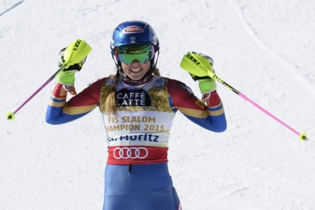Alpine World Ski Championships: Mikaela Shiffrin wins third world slalom gold