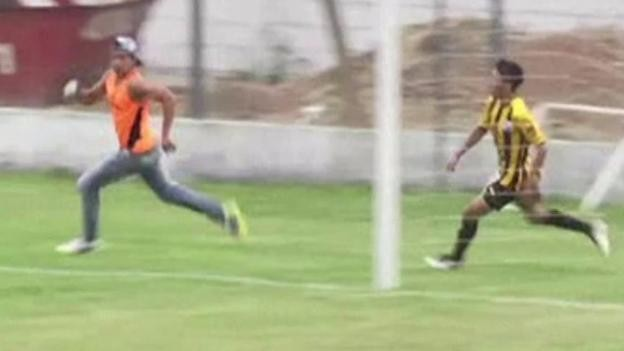 Argentine player chases and fights steward after cup defeat