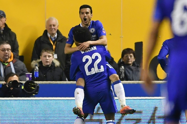 Chelsea's Pedro, Costa muzzle Wolves in FA Cup