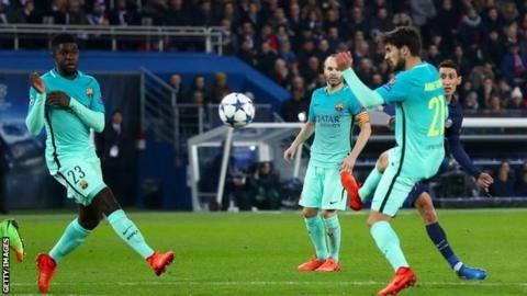 Di Maria stars as PSG put four past sorry Barcelona