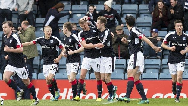 Dundee earn first home league win over Rangers in 25 years