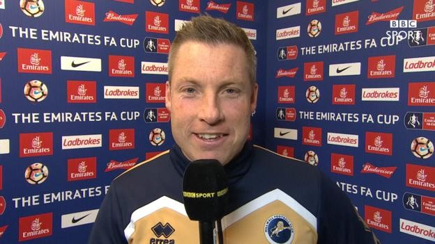 FA Cup: Millwall's Neil Harris inspired by Lincoln victory