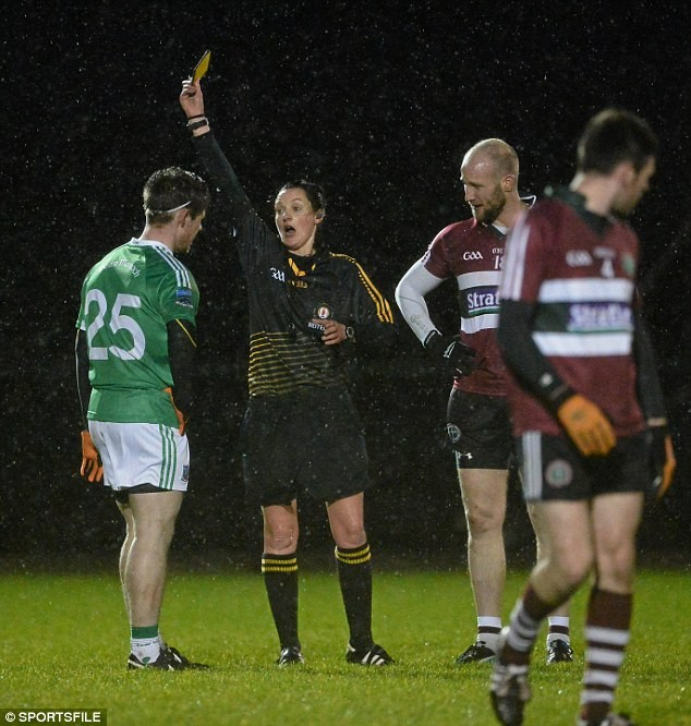 Female rugby referee makes history by taking charge of men's game