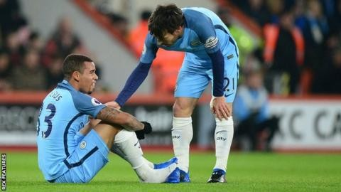 Gabriel Jesus: Manchester City forward 'may be out for season'