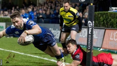 Leinster beat Edinburgh to go top of Pro12