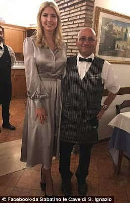 Love after duty! Ivanka and Jared enjoy date night in Rome after meeting the Pope (photos)
