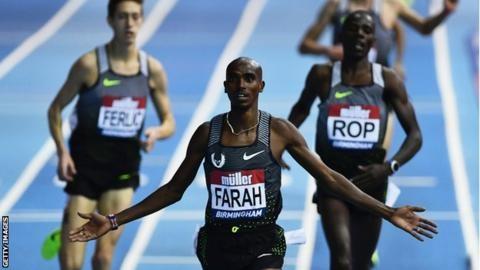 Mo Farah wins 5000m and Laura Muir breaks record at British Grand Prix