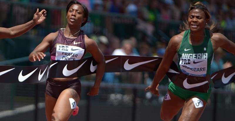 Okagbare battles Olympic champion Bartoletta in Eugene