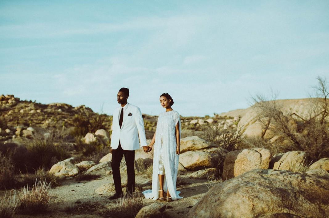 Otherworldly Desert Mirage Shoot in Joshua Tree