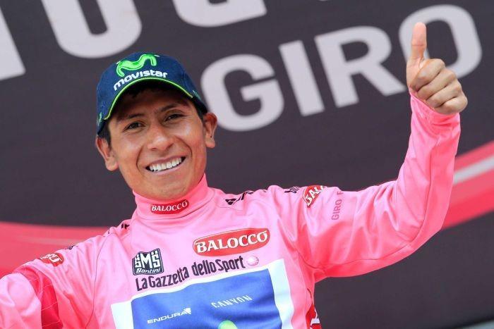 Quintana takes Giro pink jersey