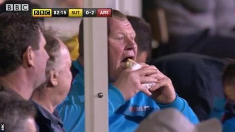 Sutton keeper's on-camera pie-eating under investigation