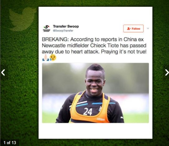 Beijing football club bows in tearful farewell to late Tiote