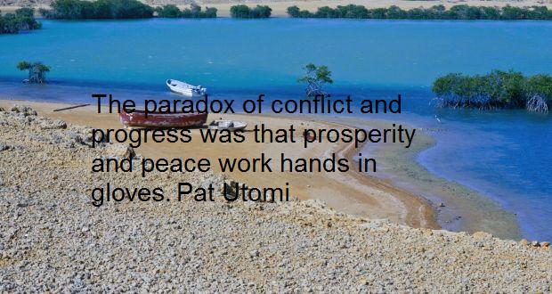 Between peace, conflict and human progress