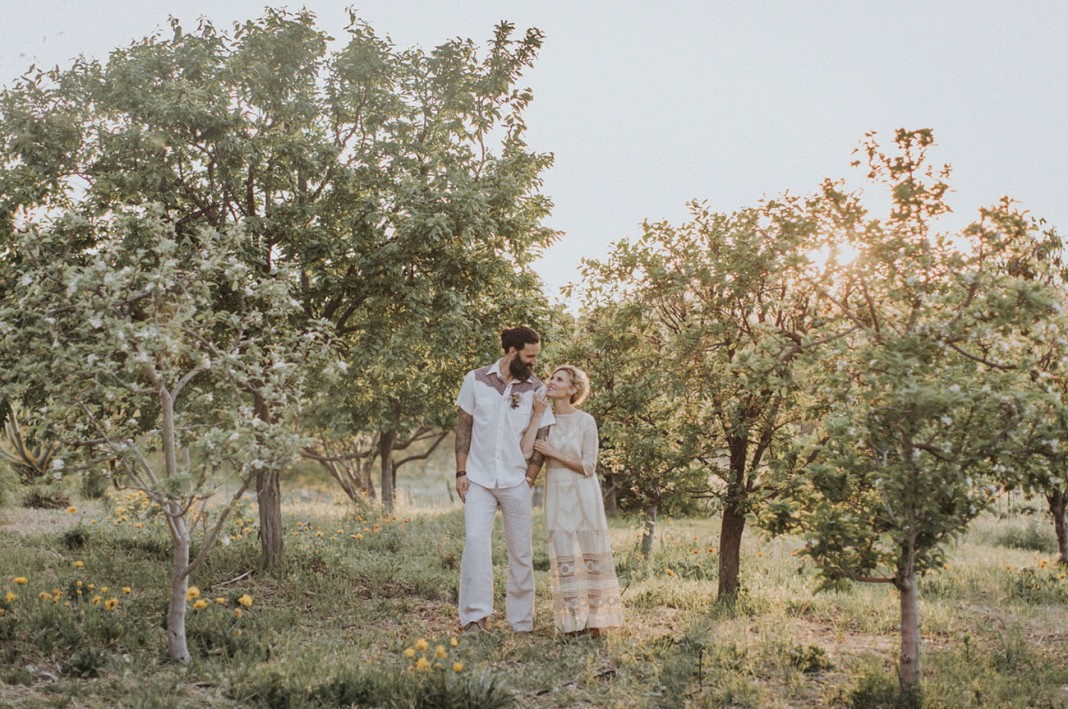 Boho-Inspired Vow Renewal in Ojai, California with a Baby Alpaca!