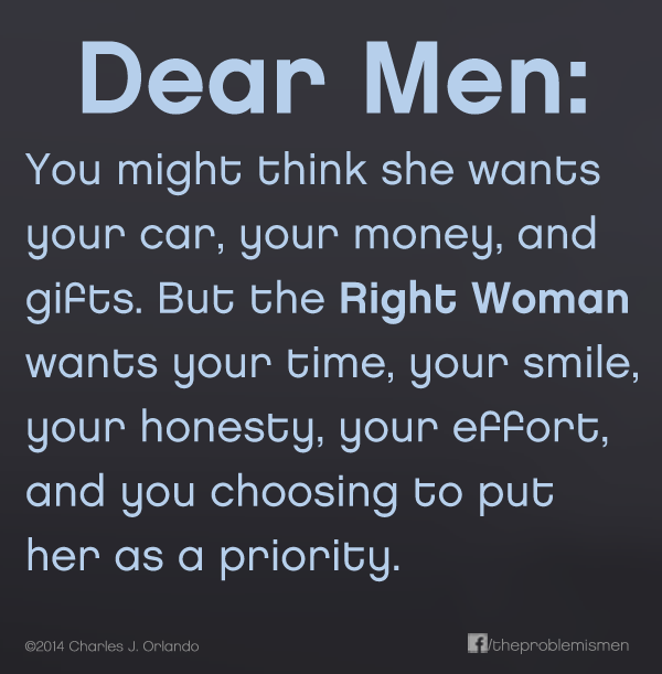 Dear men, you can only choose one!