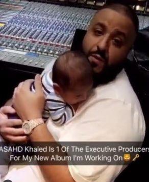 DJ Khaled shares album release date with cute photos of his son Asahd
