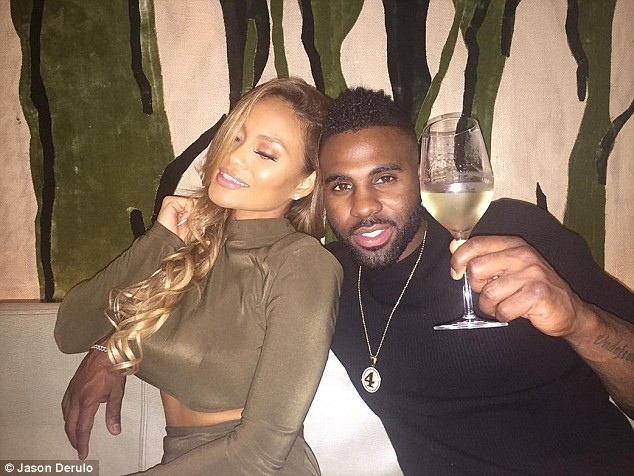 Jason Derulo steps out with his new white girlfriend (photos)