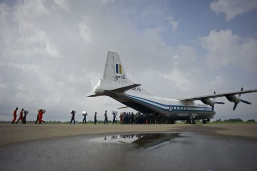 Photos: Bodies, debris recovered from the sea during search for missing Myanmar military plane