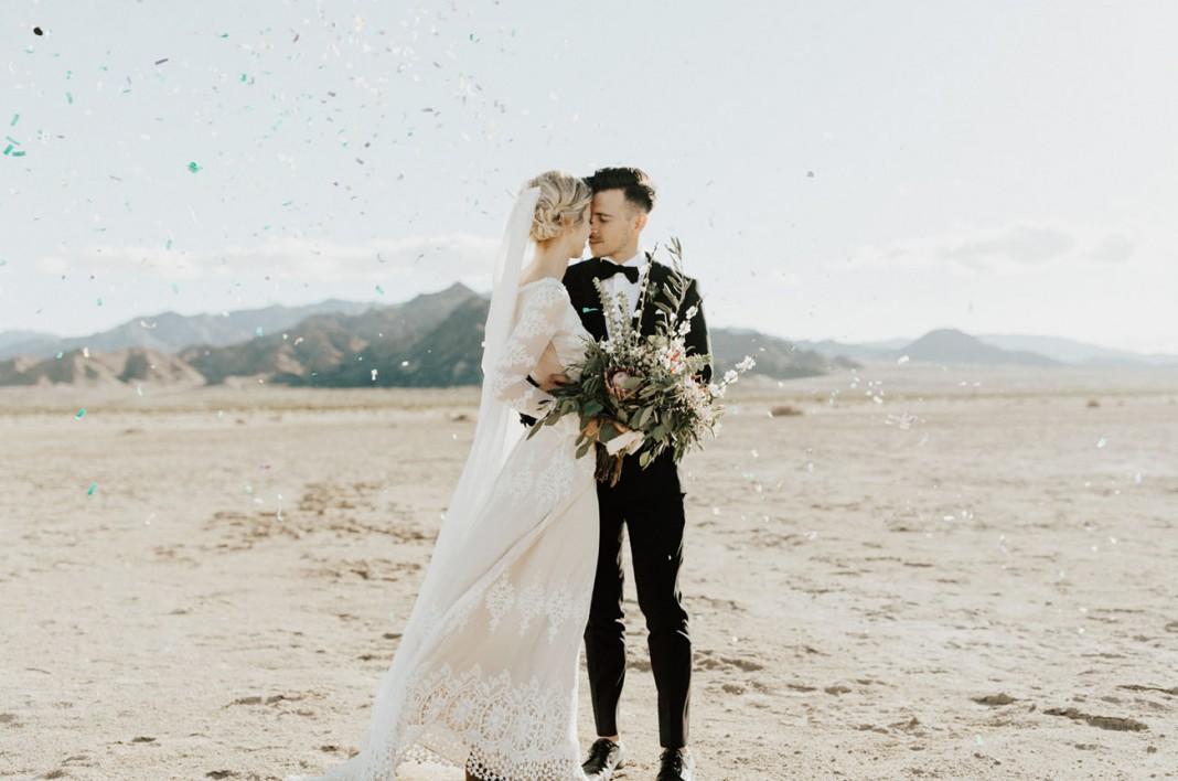 Salt Flats Pop-Up Wedding in the California Desert