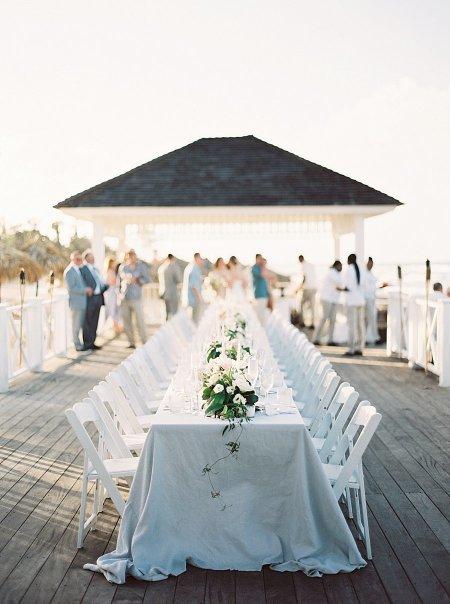 The Dreamiest Beach Wedding With Dinner on the Ocean Pier!