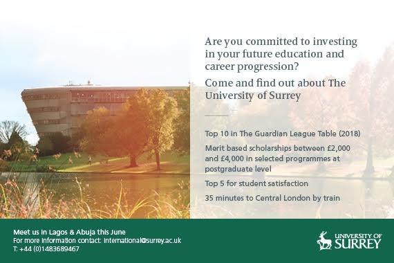 University of Surrey Visiting Abuja and Lagos