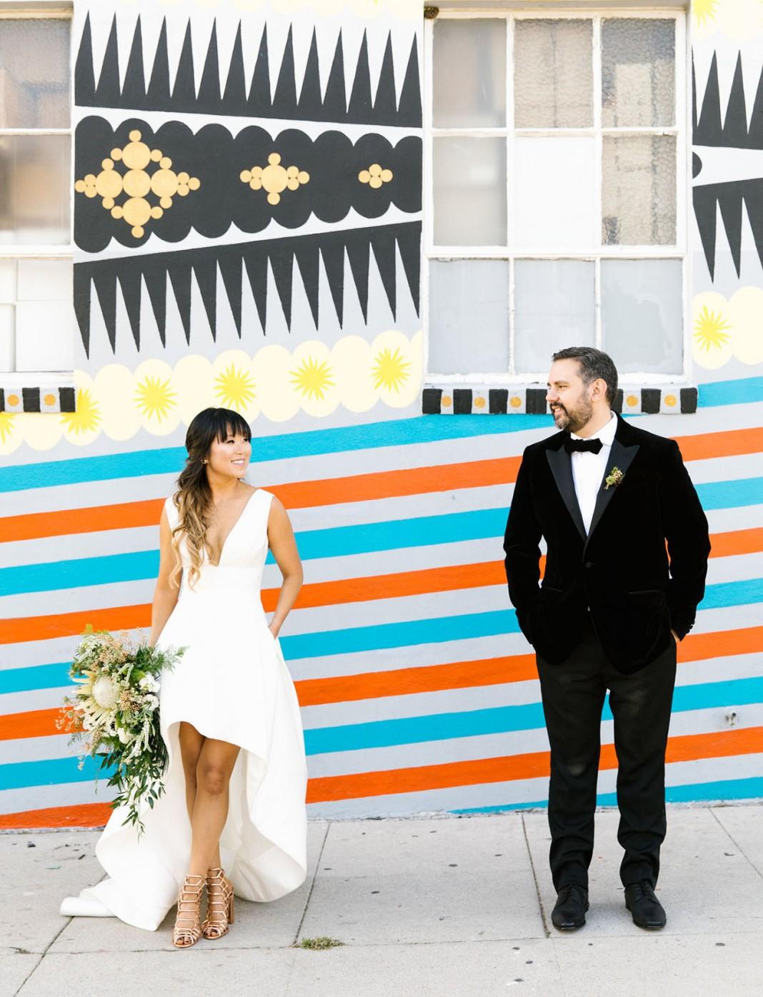Best Dinner Party Ever Meets Best Concert Ever: An Urban LA Wedding