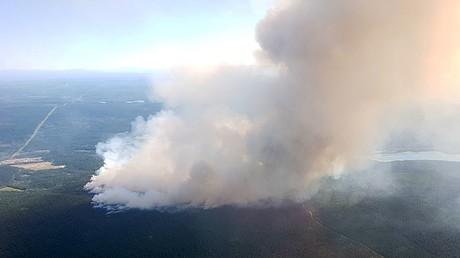 Canada wildfires: Drone footage shows devastation of blaze