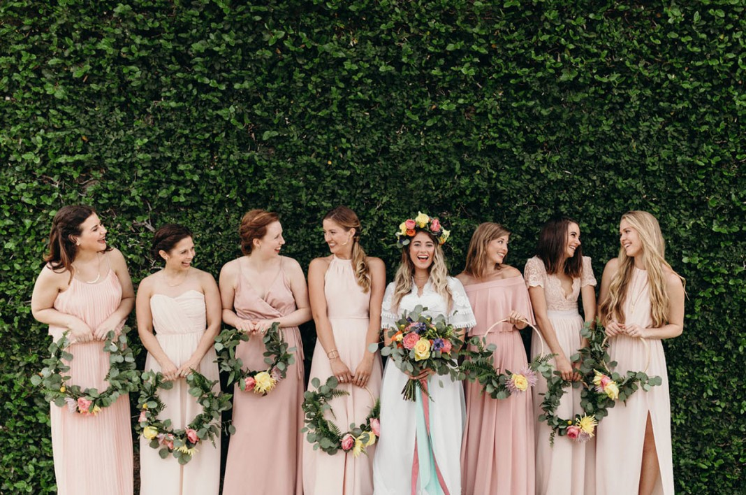 Colorful DIY-Filled Vintage Meets Garden Party Wedding at the Atalaya Castle
