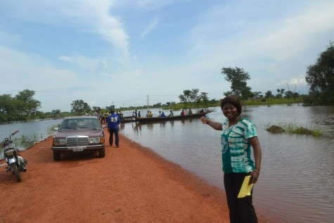 Flood ravages Auchi in Edo state
