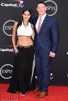 Hot couple alert: WWE stars Nikki Bella & John Cena kiss and show PDA on the red carpet (photos)