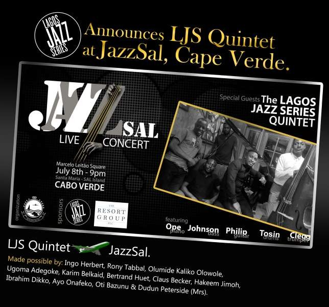 Lagos jazz series quintet to perform at Cape Verde JazzSal