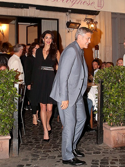 New Parents George and Amal Clooney Enjoy Date Night in Italy