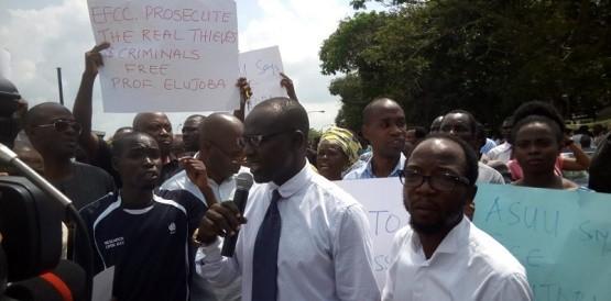 OAU academic staff protest Prof Elujoba's detention