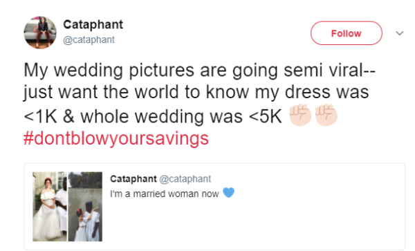 This Bride & her Nigerian beau's wedding cost less than $5,000