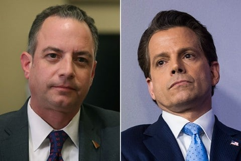White House tensions flare in the open as Scaramucci rips Priebus in vulgar tirade