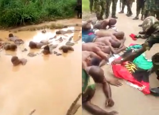 Video Soldiers Subject Ipob Members To Severe Corporal Punishment, Force Them To Lie -3158