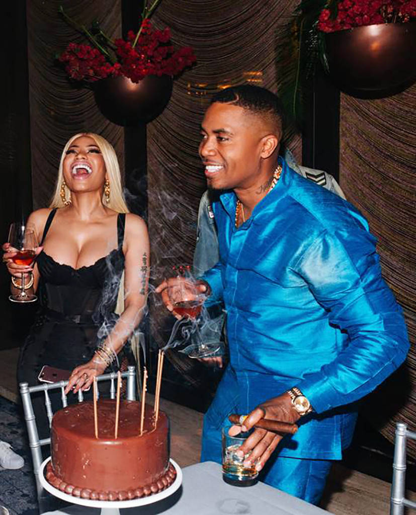 "Nicki Minaj and Nas Are ""Just Very Dear Friends"" Despite Display of PDA at His Birthday Party"