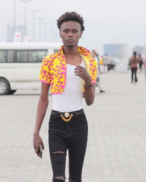 Onyx Godwin spotted at the Lagos Fashion & Design Week 2017