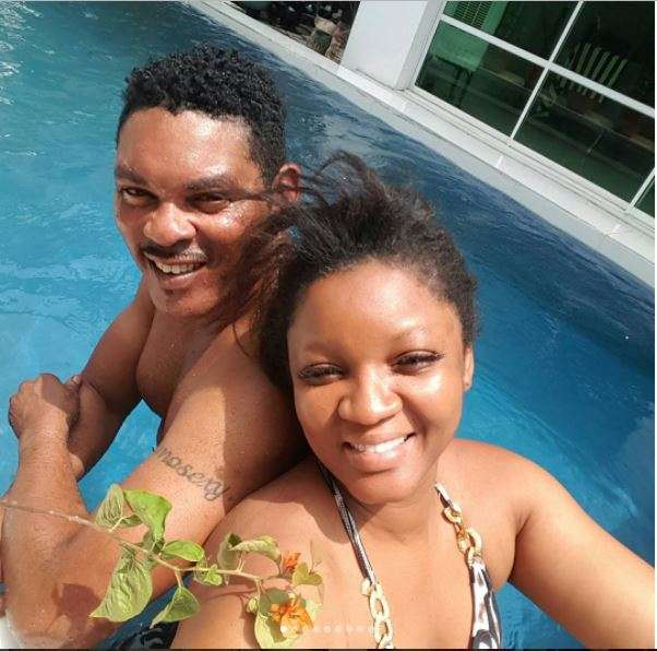 Omotola Jalada-Ekeinde Actress, hubby get 'grabby' in pool pics [Photos] In  some of the snaps, Captain Matthew seemed unable to keep his hands to  himself as they frolicked in the pool, with