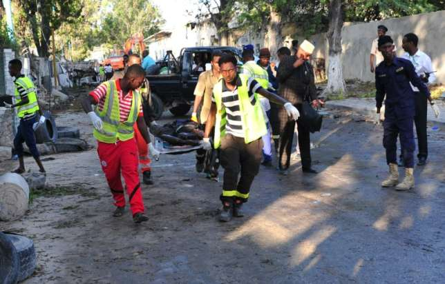 In Somalia The deadliest attacks in country since 2010 A weekend attack claimed by the Al-Qaeda aligned Shabaab on a hotel in Mogadishu has killed at least 27 people, just two weeks after the deadliest attack in Somalia's history killed 358 people in the capital.