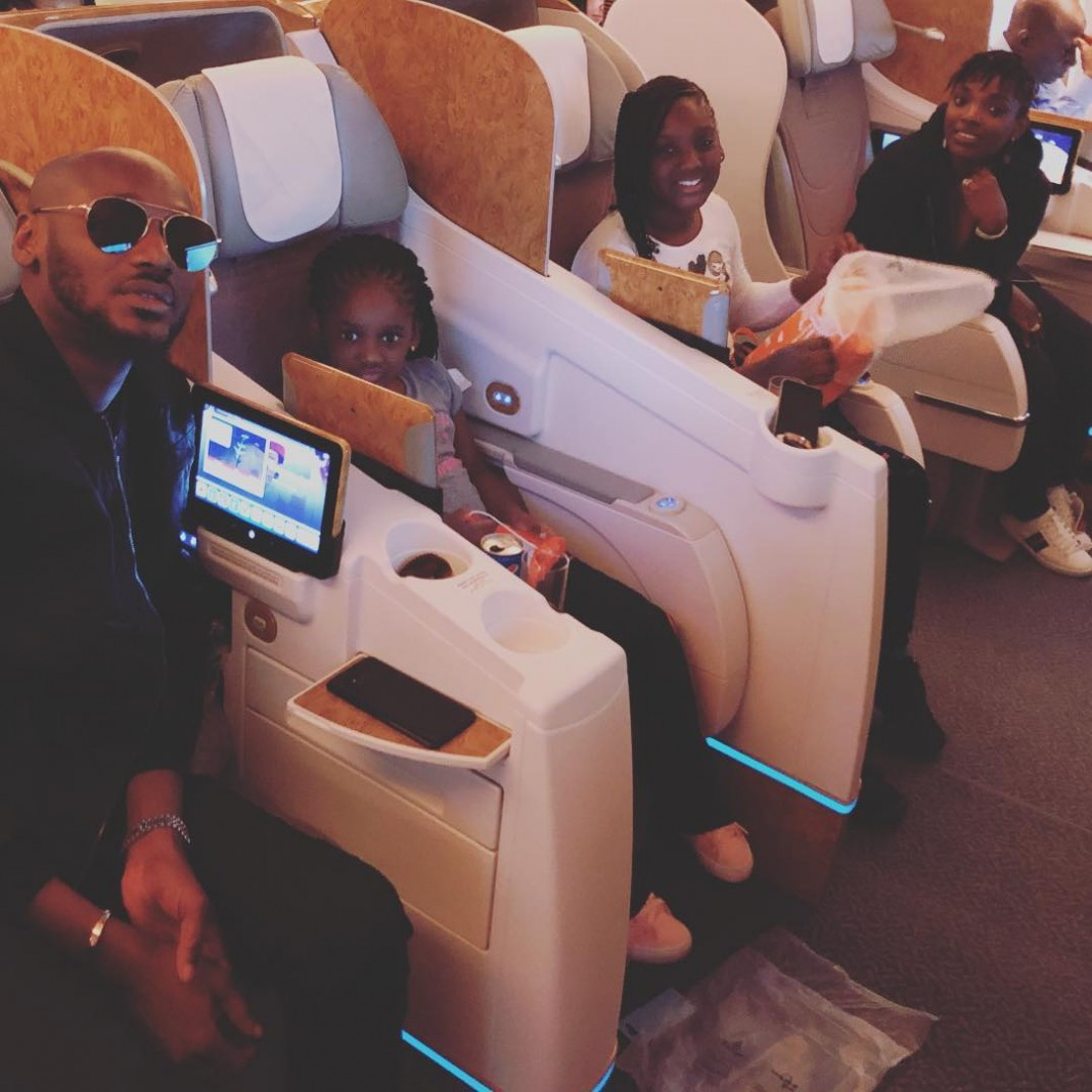 2face Idibia, Annie and their kids jet out to Dubai for a birthday vacation (photo)