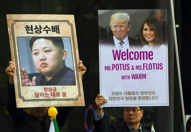 Trump On a divided peninsula, South Koreans split over US President On the divided Korean peninsula, Seoul has seen protests both for and against President Donald Trump, with Southerners split over his aggressive handling of Pyongyang's provocations.