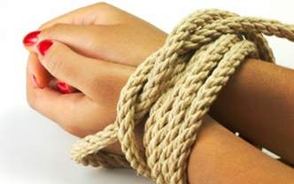 'My husband tied me to tree'