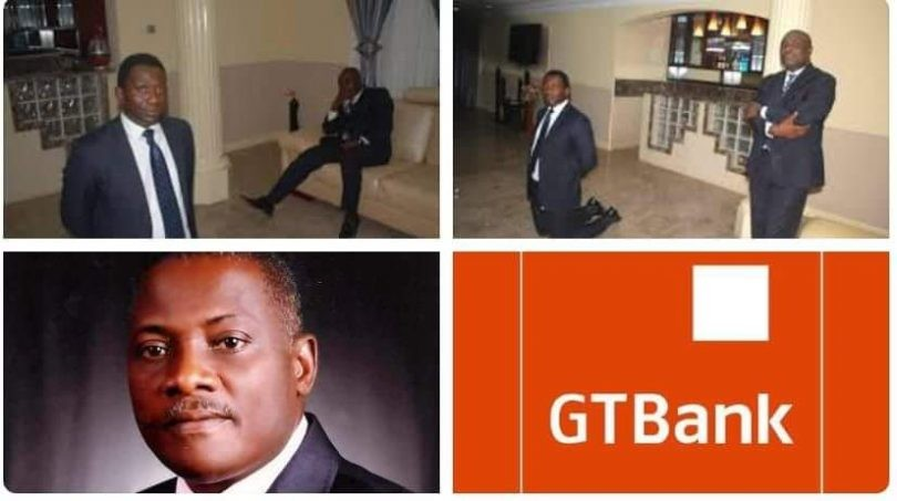Happening Now in Lagos State!! MD of GTB Bank Segun Agbaje on his knees to beg Innoson Motors
