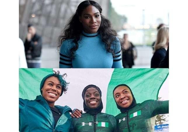 Serena Williams celebrates Nigeria's bobsledding team for making history