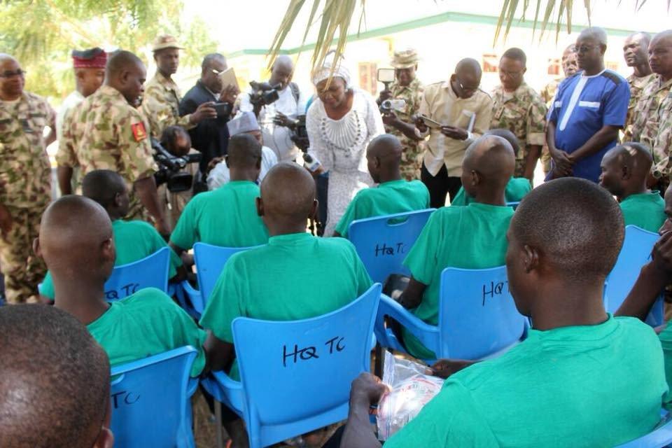 Photos: 26 Boko haram insurgents surrender to Nigerian Army