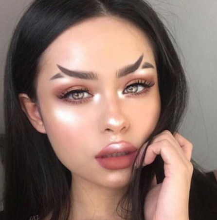 Check out the fishtail brow which is fast becoming a trend