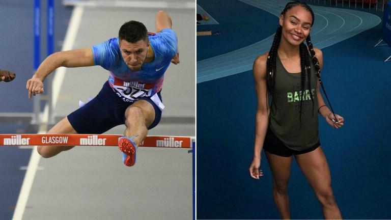 Andrew Pozzi and Imani Lansiquot compete at Glasgow Indoor athletics Grand Prix